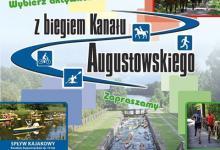 Plakat z biegiem Kanału Augustowskiego